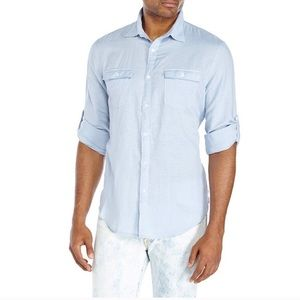 NWT Perry Ellis light blue button up